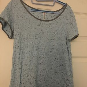 XS Lularoe Classic T shirt Heathered blue Speckle